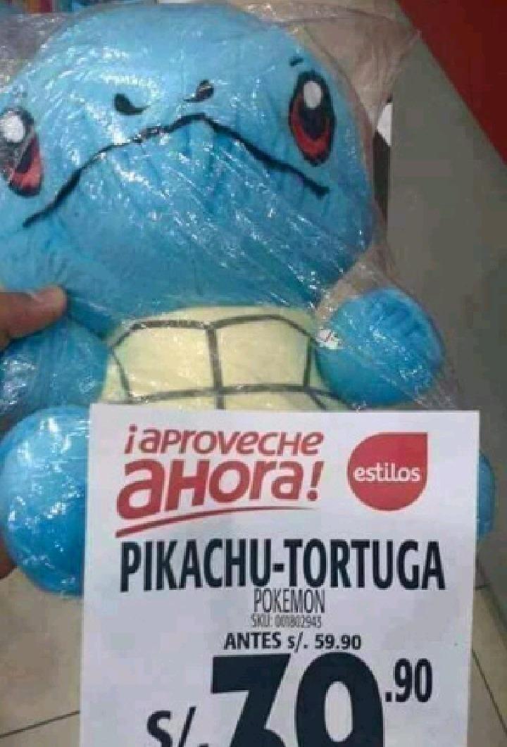 Pikachu tortuga - meme