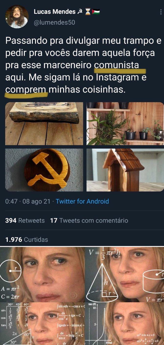 Comunismo só é bom para os outros - meme