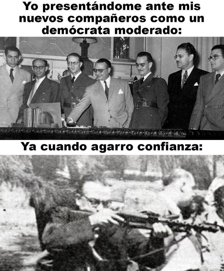 Contexto: Revolución de Octubre y el inicio del Trienio Adeco que fue la versión beta del chavismo en Vnzla - meme