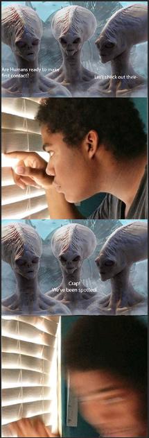 Fide meets the aliens - meme
