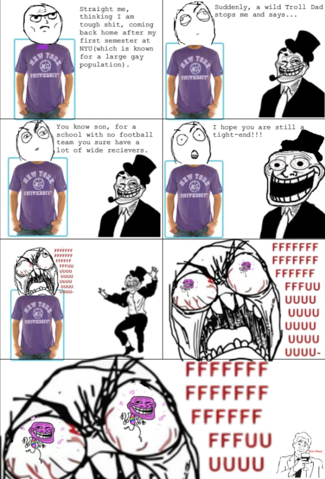 Damn troll dad - meme