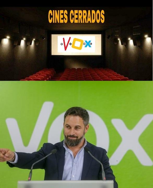 Se están pareciendo demasiado VOX-CINEBOX ese es mi cine - meme