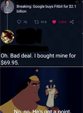 no no he's got a point - meme