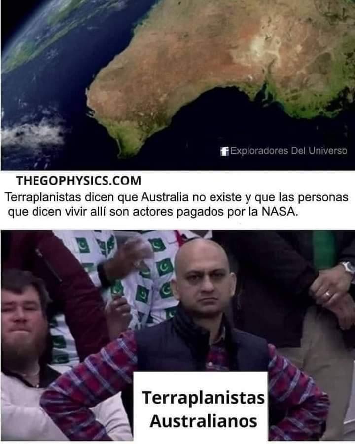 Putos terraplanistas - meme