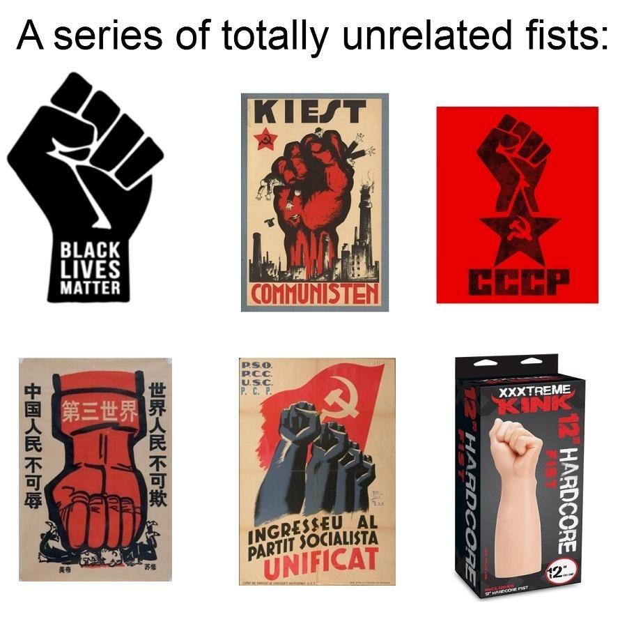 Commie fist - meme