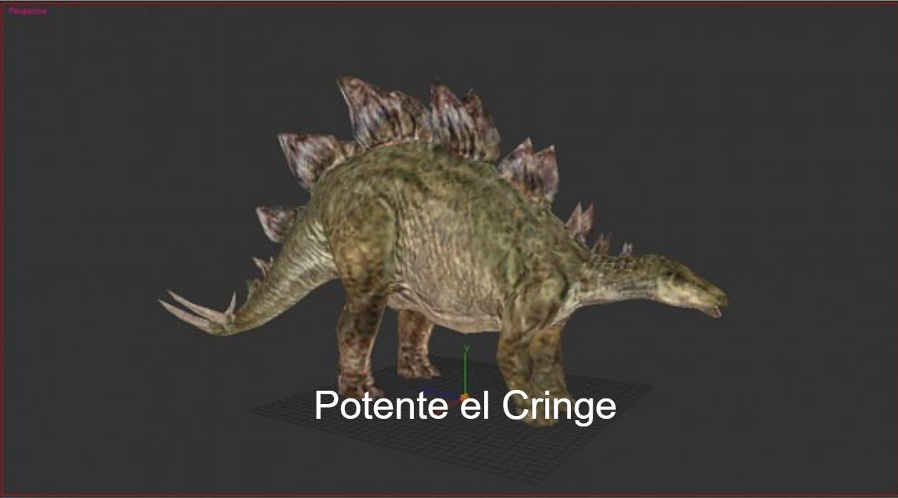 Meme mega muerto version Estegosaurio