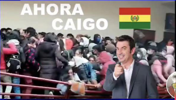 ahora caigo edición Bolivia - meme