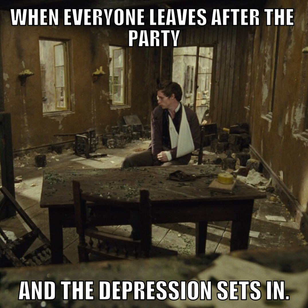 Empty chairs at empty tables. - meme