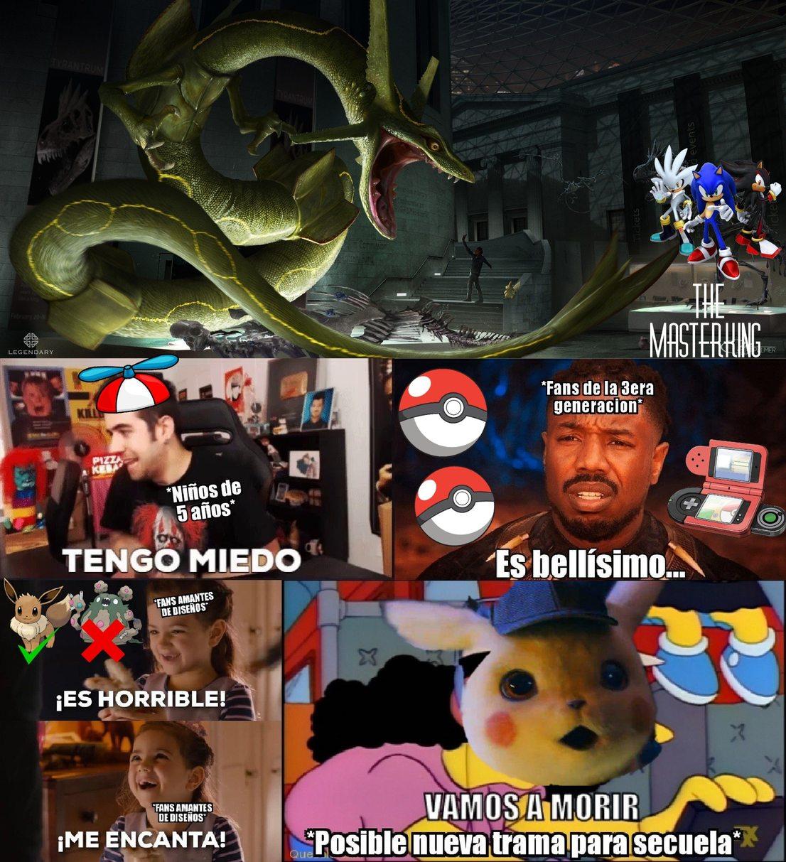 Rayquaza versión detective pikachu - meme