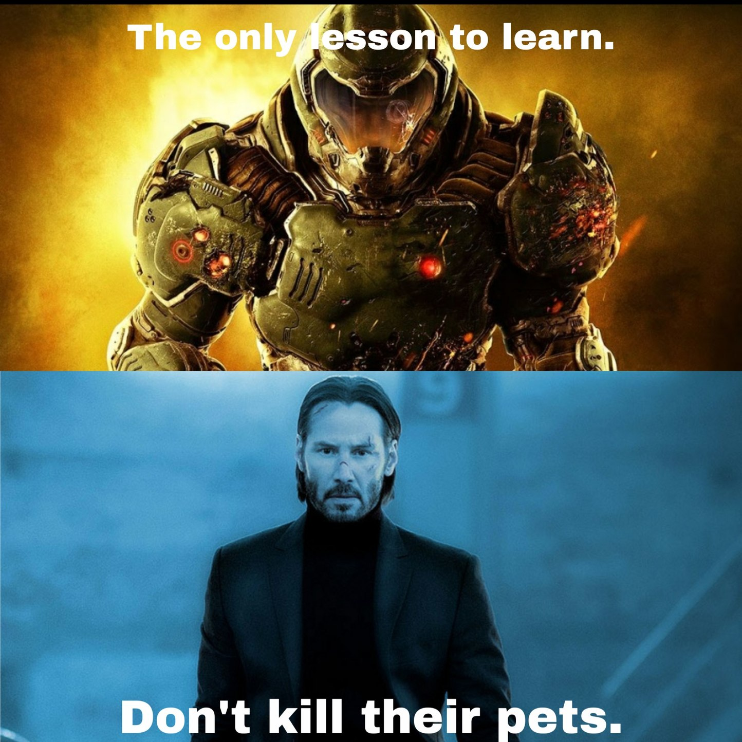 Don't kill people's pets in general, mkay - meme