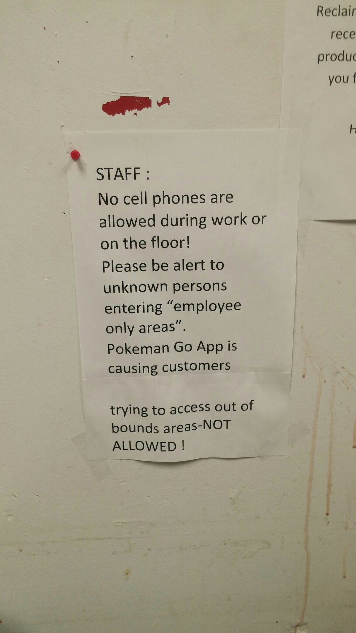This sign is in my breakroom lololol - meme