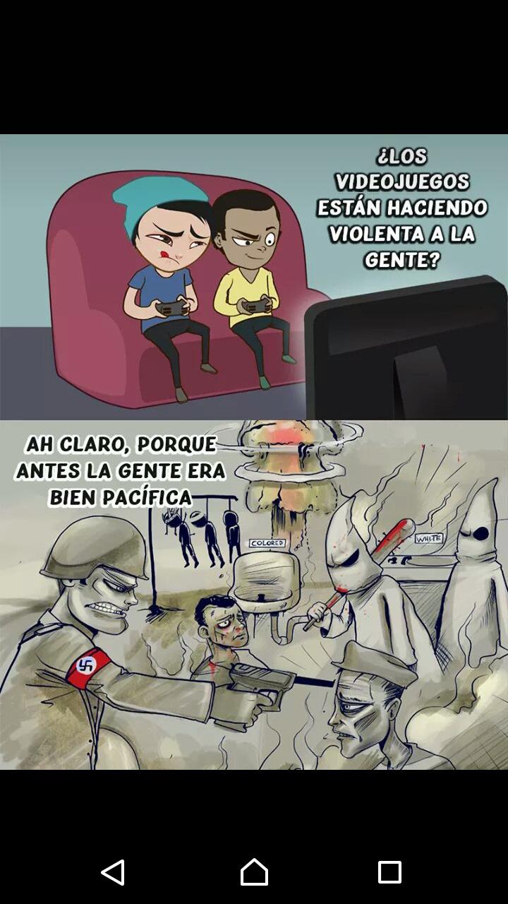Elser humano es violento por naturaleza pero los videojuegos lo calman - meme