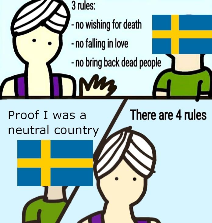 Sweden I feel bad for you - meme
