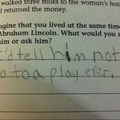 School Quiz Answers - That would be good advice.