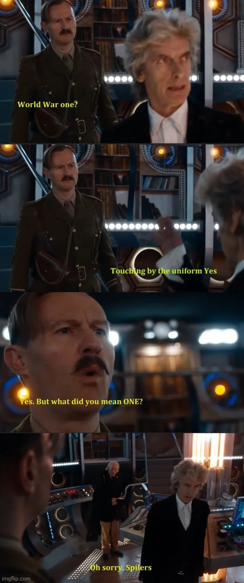 Classic Doctor Who before feminism ruined it - meme