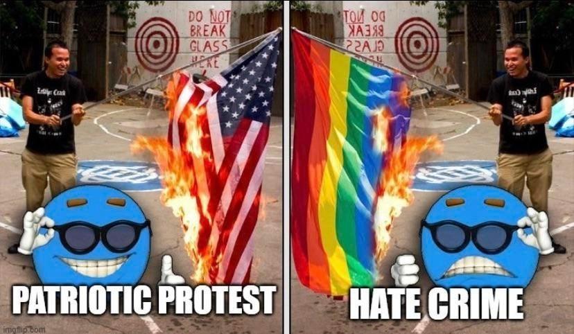 Only one true flag seen here - meme