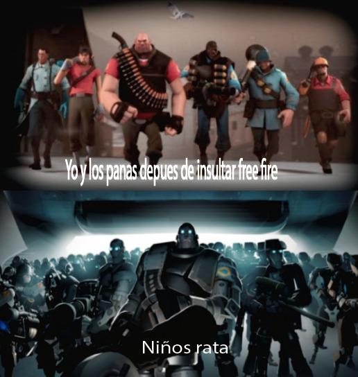 Cuando insultas free fire - meme