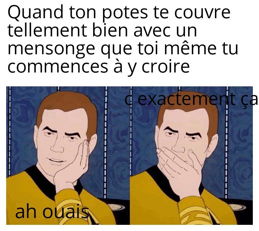 Mensonge - meme