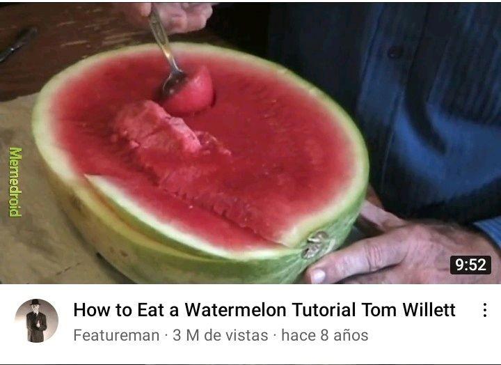 Este video es del mismo hombre que comia sandia con su clon - meme