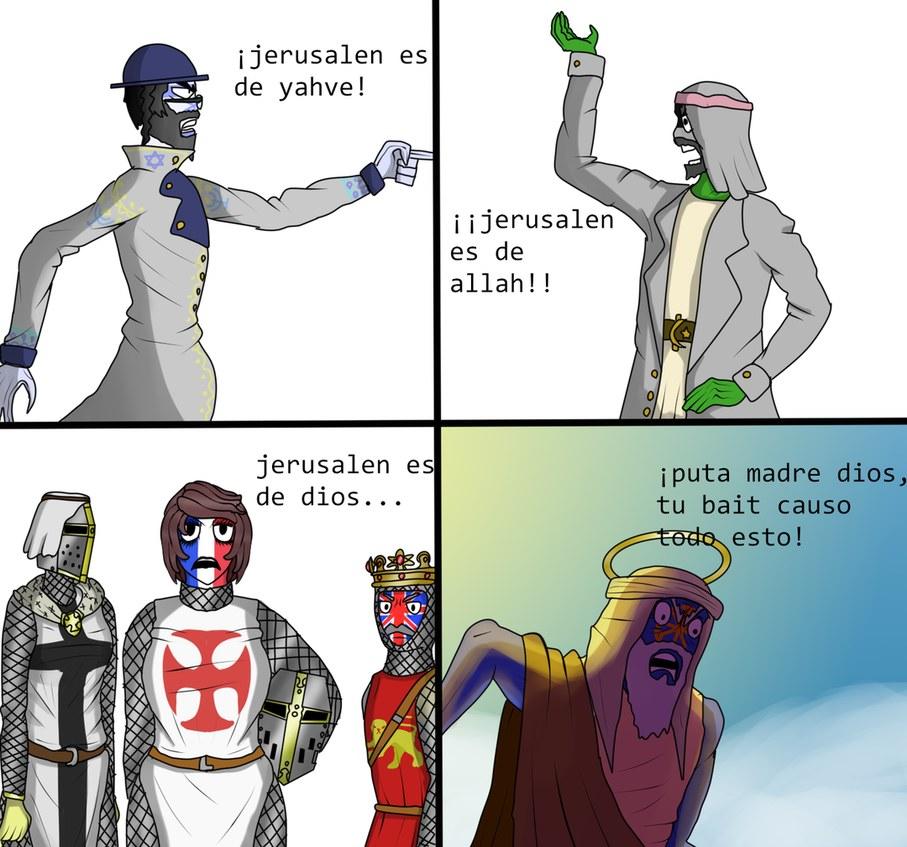 (haber si esta mierda sale de moderación) bueno, mi primer comic que es sobre Jerusalén y sus conflictos - meme
