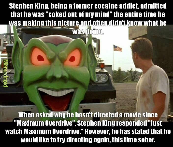 Maximum Overdrive (1986) - meme