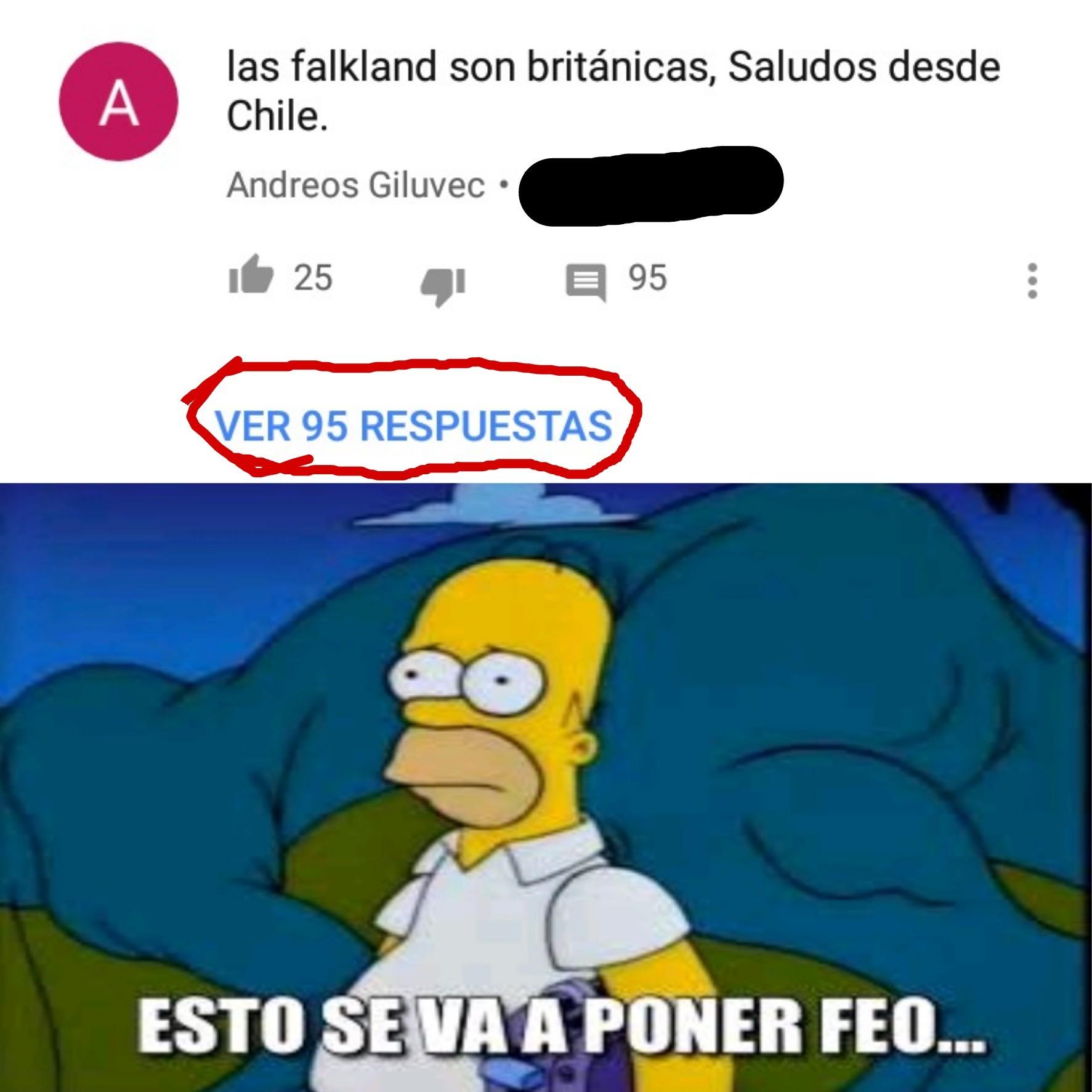 Homero tiene atras a un uruguayo - meme