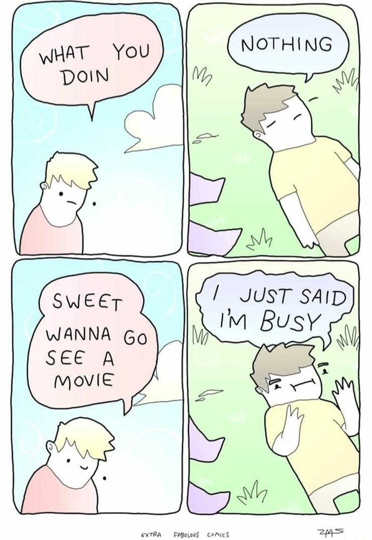 Busy - meme