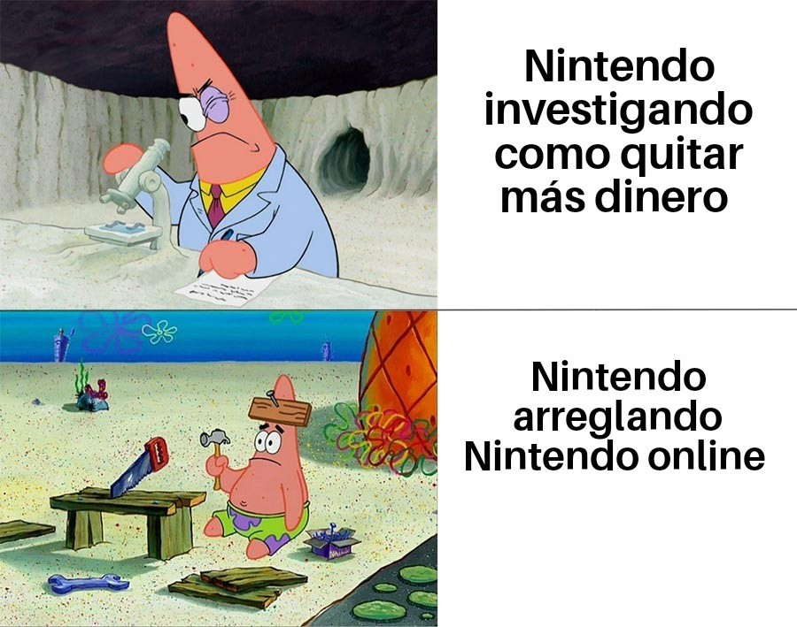 Nintendo mejora el Online Coño - meme