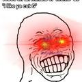 Gringos qliaos, y después nosotros matamos memes en una semana xD PD: perdón por la edición del culo, es la primera vez que pongo ojos brillantes en un meme