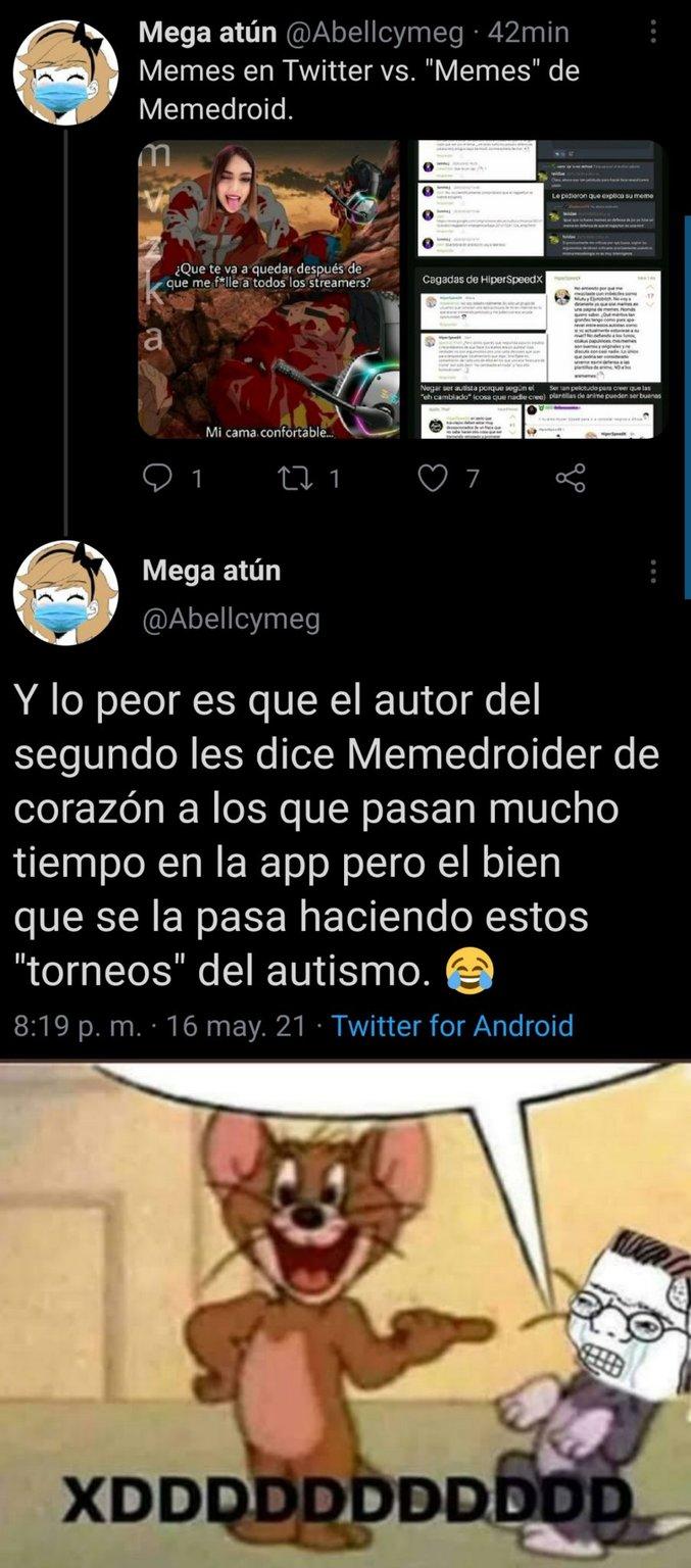 Mega tweeteando pelotudez - meme