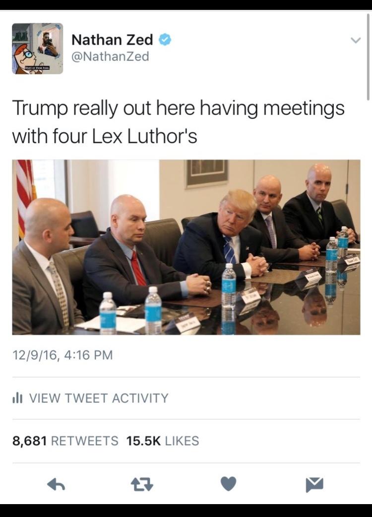 Damn, Trump trying to be a super villain. - meme