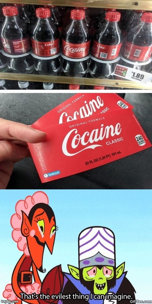 coke = evil - meme