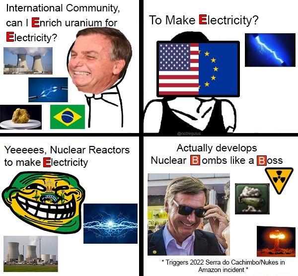 a bomba tá sendo feita - meme