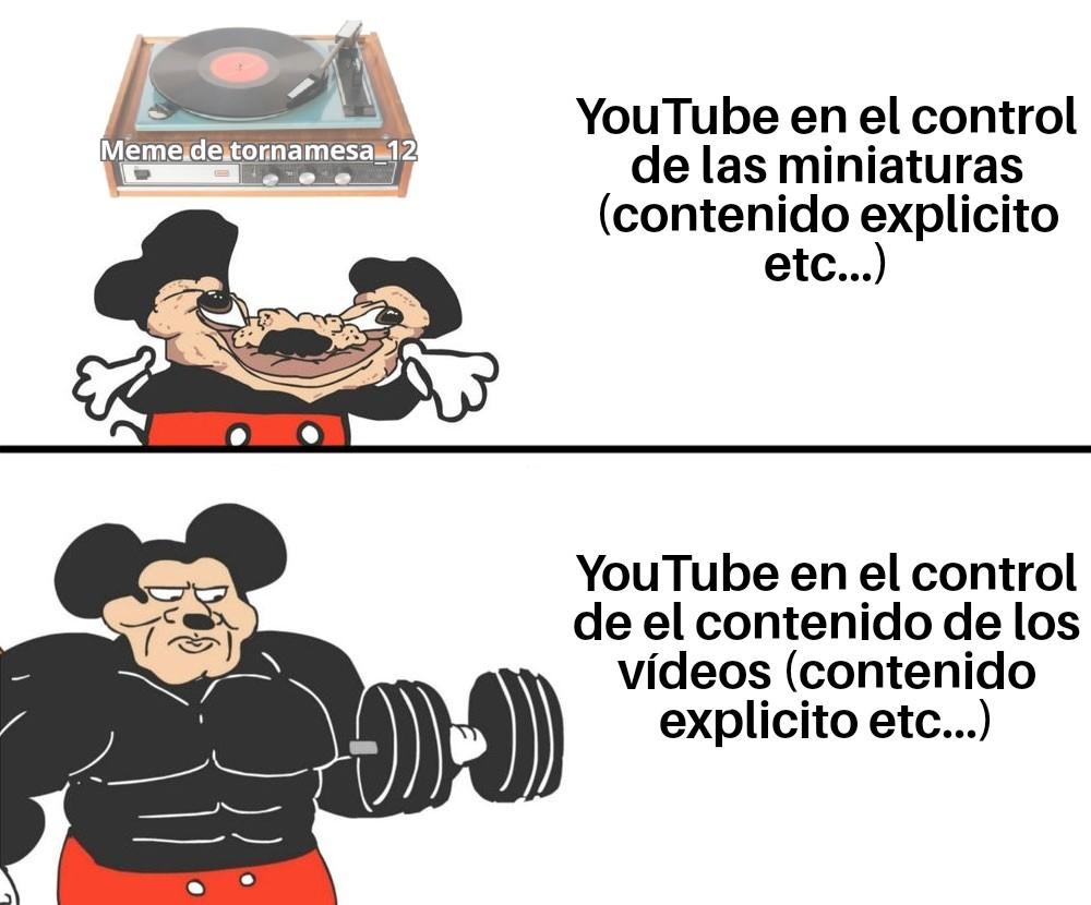 Las miniaturas de algunos vídeos son re turbias o inapropiadas para YouTube ¡Y sigue hay! - meme