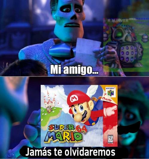 :soyjaka: ¿Sabían que según una encuesta, Super Mario 64 es el juego retro más querido en más de 10 países? - meme