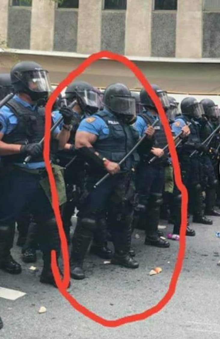 When you get to the boss level of a riot squad - meme