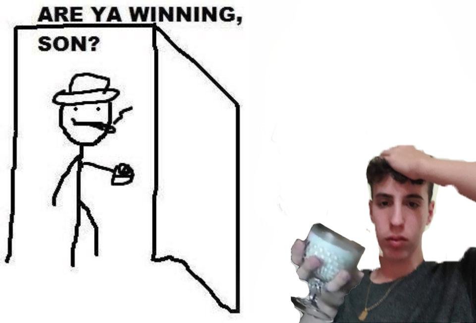 looks like he's winning - meme