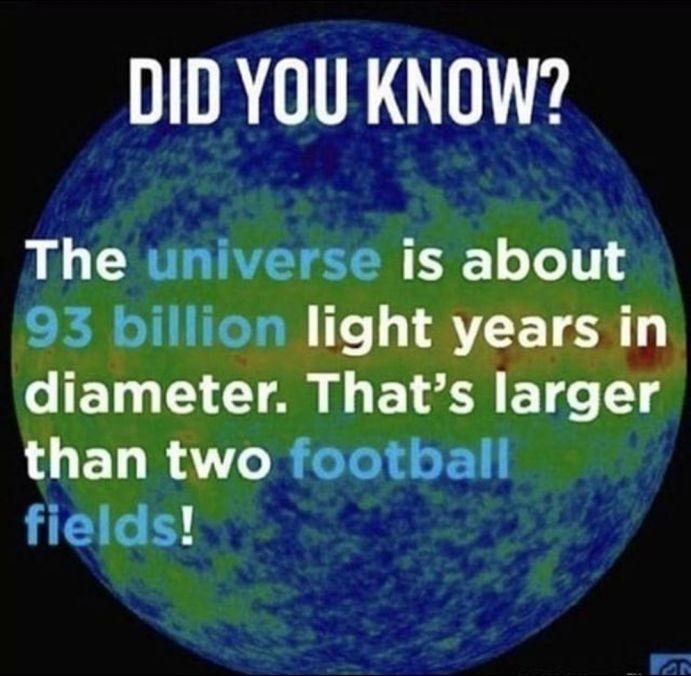 Universe is big - meme