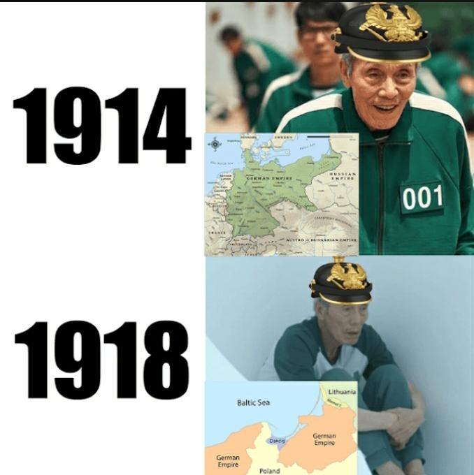 Tratado de Versalhes causou à segunda guerra mundial - meme