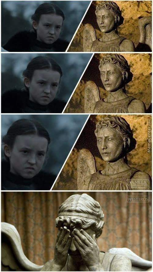 Lady mormont with the death stare - meme