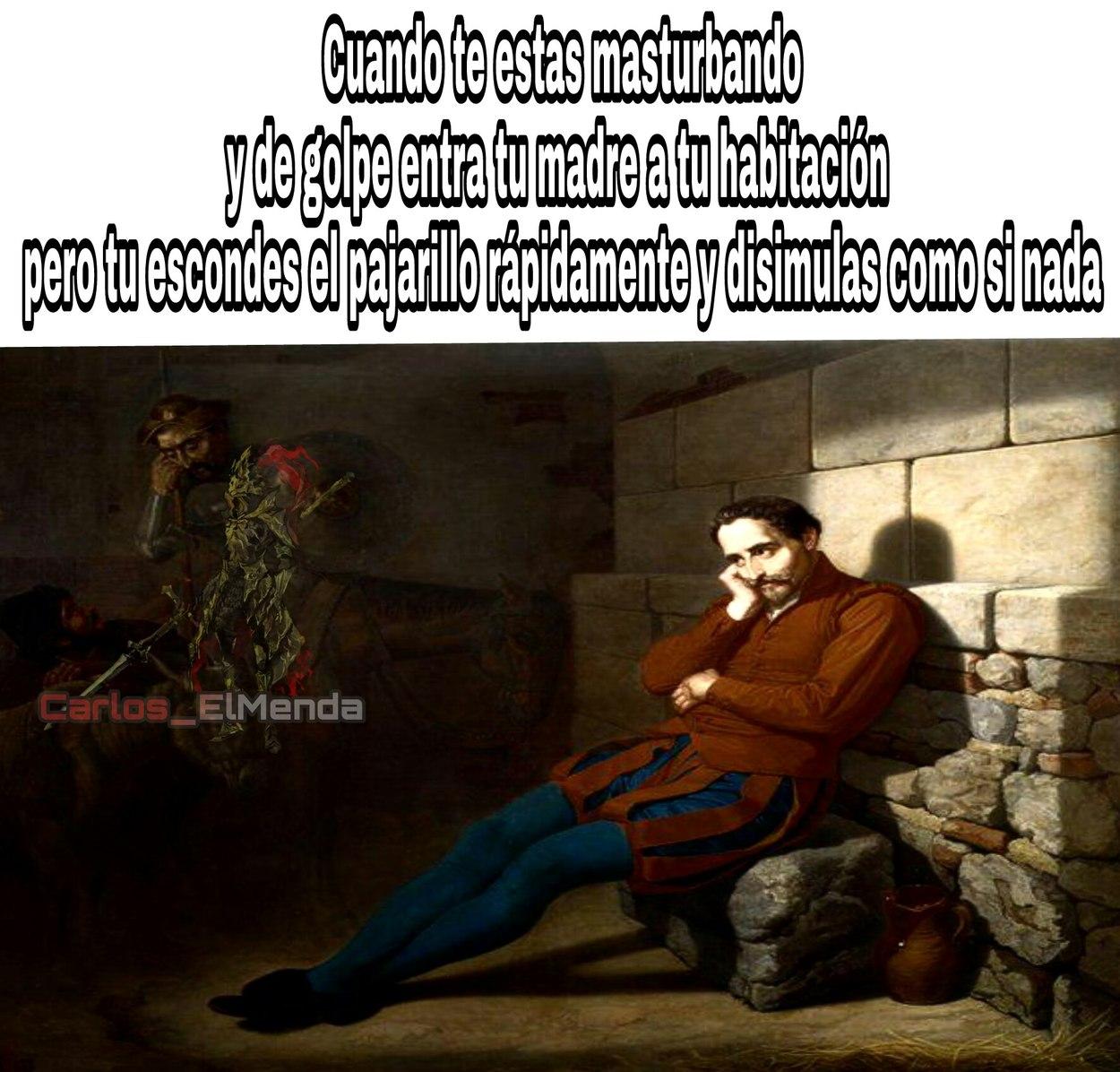 """Plantilla llamada """"Qervantes imaginando el Quijote"""" ;-) - meme"""