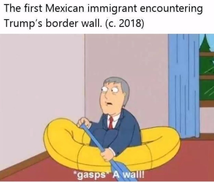 Oh no! A wall - meme