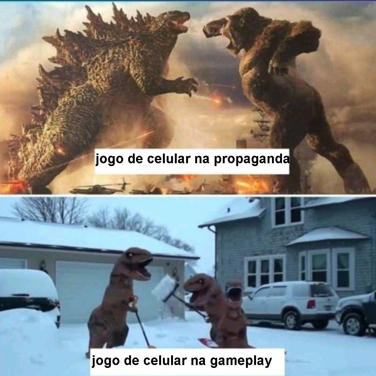 o titulo joga jogo de celular - meme