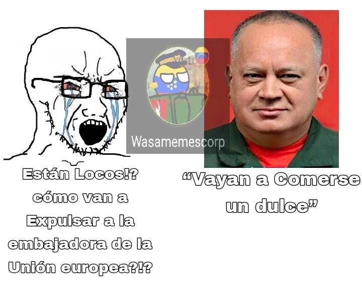 Diosdado es un perro chavista pero su comentario su comentario fue chistoso - meme