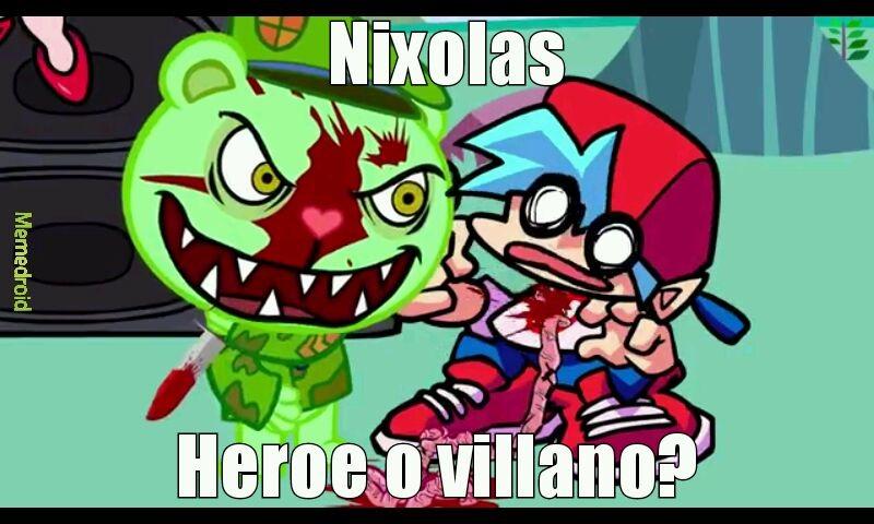 Nixolas acabo con el protagonista - meme