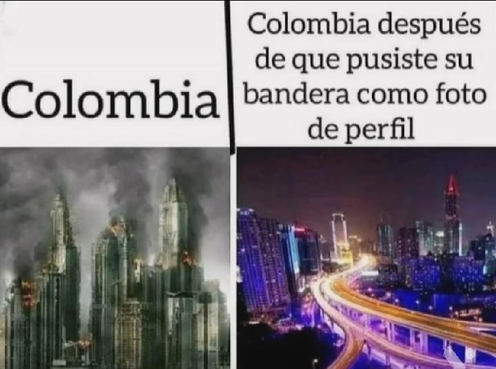 F por los colombianos - meme
