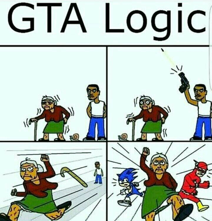Lógica de GTA - meme