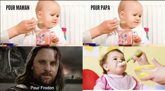 Voilà comment mange un hobbit - meme