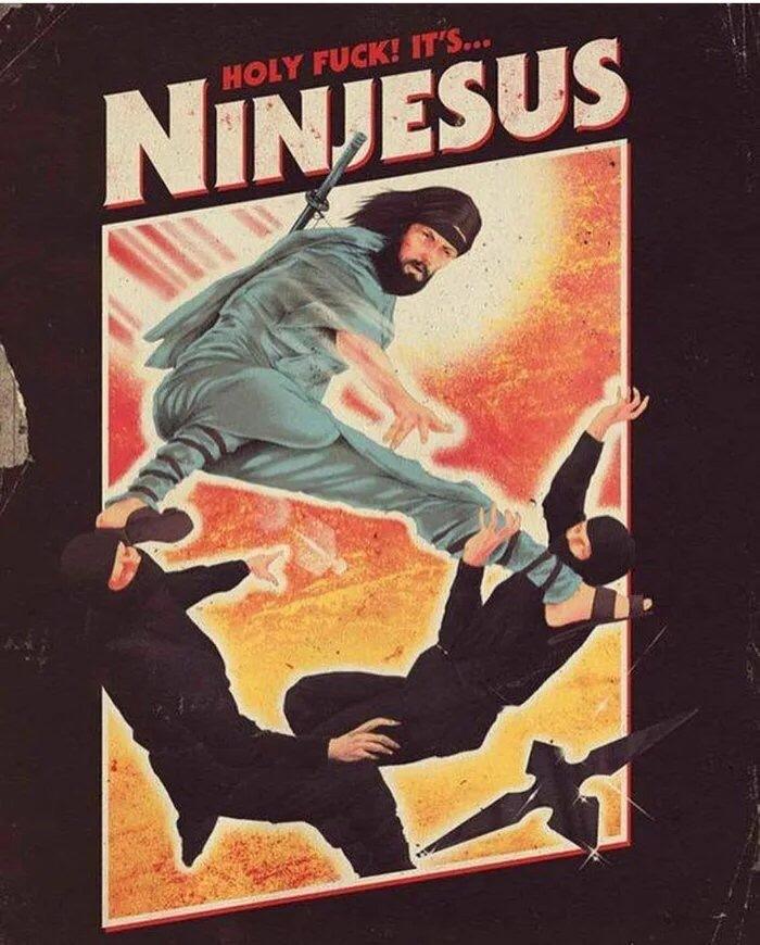 Beware pagans, here comes Ninjesus - meme
