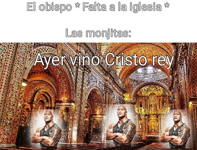 Un obispo es el que controla la iglesia mientras que las lonjitas son las empleadas - meme